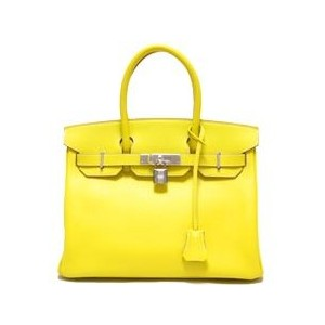 bright yellow hermes birkin handbag