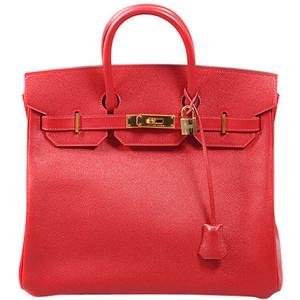 pink red hermes birkin handbag