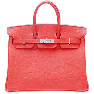 dark red coral hermes birkin handbag