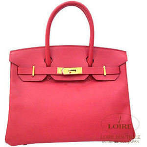 dark red pink hermes birkin handbag