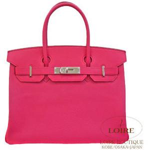 cerise pink hermes birkin handbag