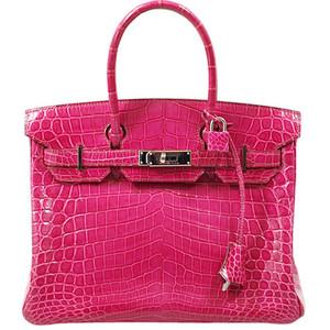 pink snakeskin hermes birkin handbag
