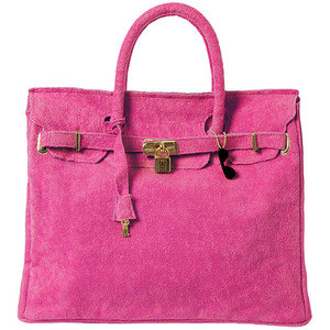 pink suede hermes birkin handbag