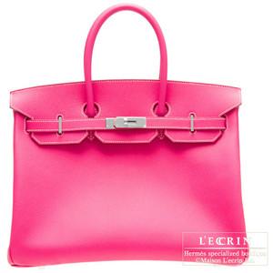 bright pink hermes birkin handbag