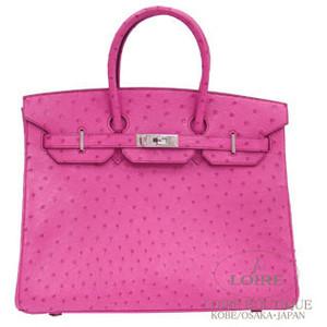 pink ostrich skin hermes birkin handbag