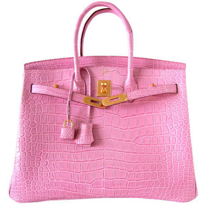 light pink crocodile skin hermes birkin handbag