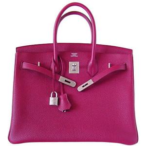 maroon purple hermes birkin handbag