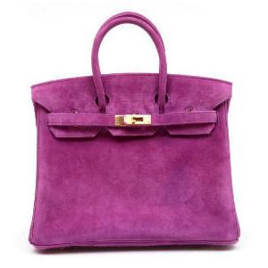 purple suede hermes birkin handbag