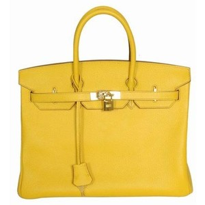 yellow hermes birkin handbag