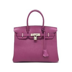 purple hermes birkin handbag