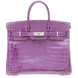 light purple crocodile skin hermes birkin handbag