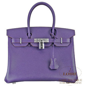 dark purple hermes birkin handbag