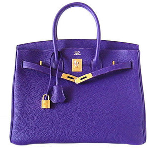 dark blue purple hermes birkin handbag