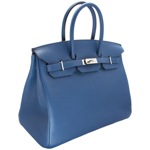 dark blue hermes birkin handbag