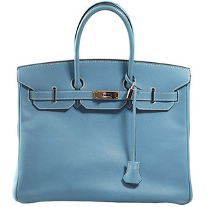light blue hermes birkin handbag