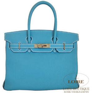 aqua blue hermes birkin handbag