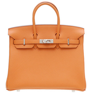 orange hermes birkin handbag