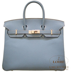 blue grey hermes birkin handbag