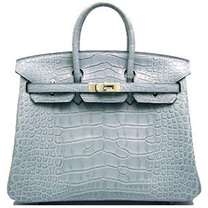 light grey blue hermes birkin handbag