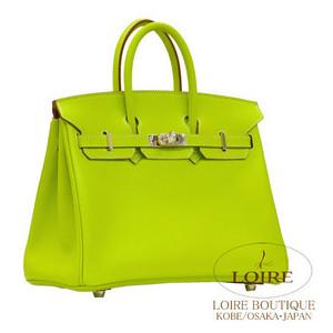 neon green hermes birkin handbag