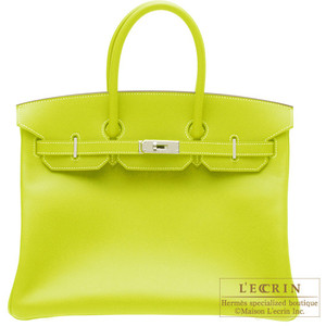 luminous green hermes birkin handbag
