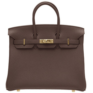 chocolate brown leather hermes birkin handbag