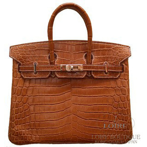 brown crocodile skin hermes birkin handbag