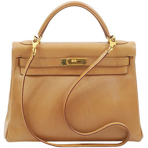 tan brown leather hermes birkin handbag