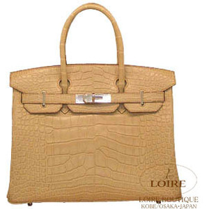 golden brown crocodile skin hermes birkin handbag