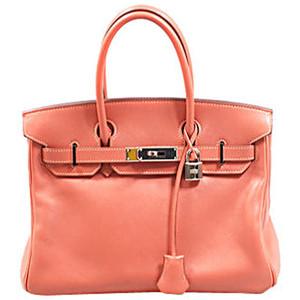 coral hermes birkin handbag
