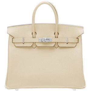 cream hermes birkin handbag