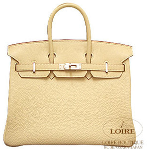 yellow cream hermes birkin handbag