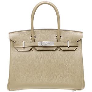 grey beige hermes birkin handbag