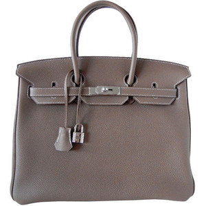 dark grey hermes birkin handbag