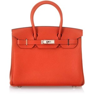 dark orange hermes birkin handbag