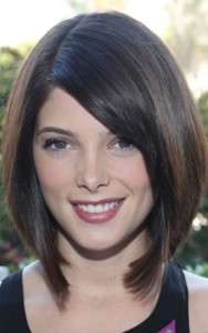 ashley greene brown layered bob hairstyle