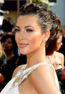 Kim Kardashian Elegant Updo Hairstyle