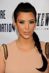 Pig Tails Kim Kardashian Hairstyle
