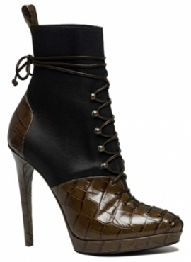 black and brown ankle boots with laces