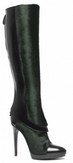 dark green knee high boots
