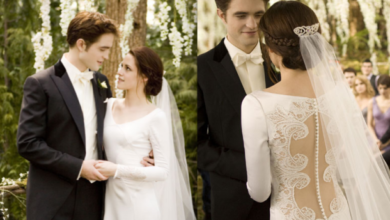 kristen stewart wedding dress
