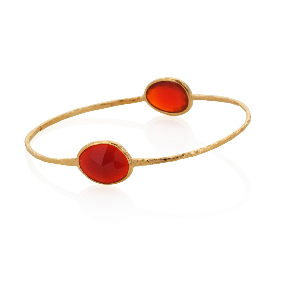 Vermeil Double Oval Red Agate