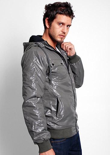 grey leather jacket for men