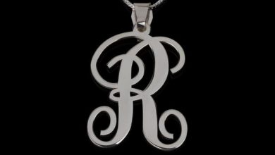 sterling silver monogram initial