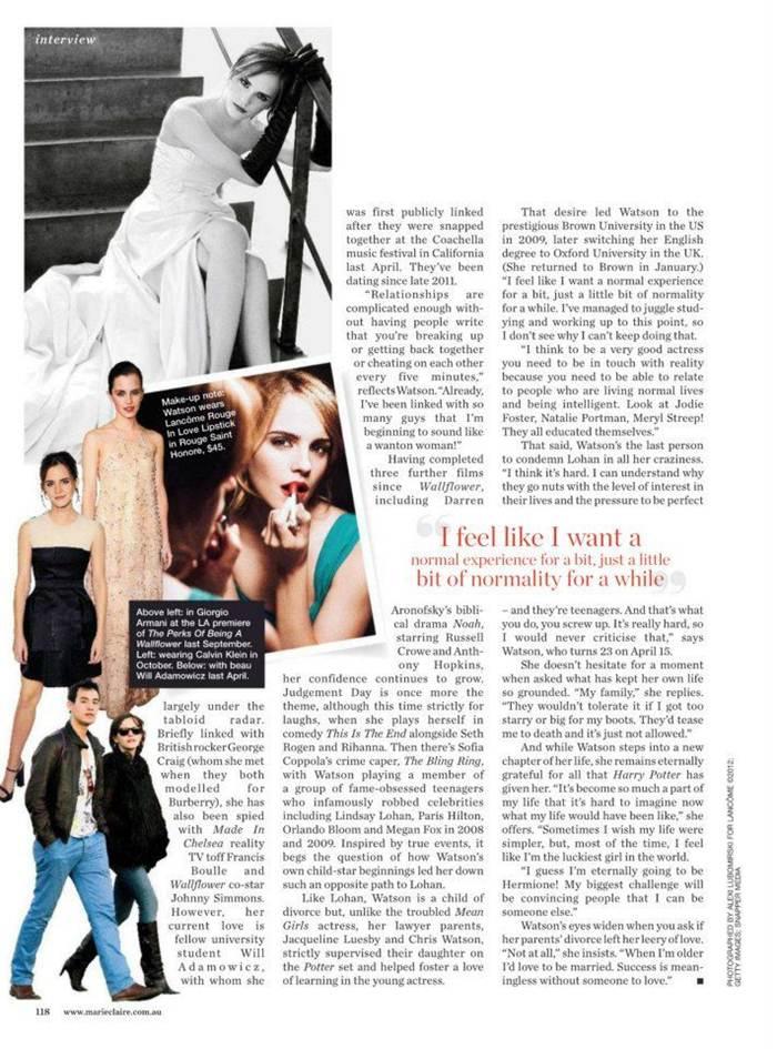 Emma Watson 2013 Photos