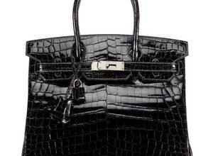 black patent leather hermes birkin handbag