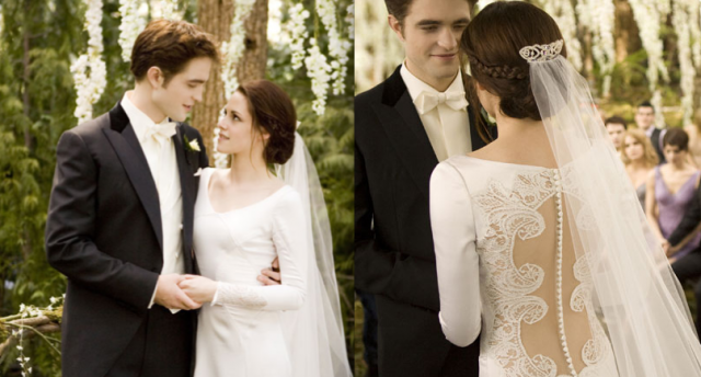Behind The Scenes Of Bella S Wedding Dress From Breaking