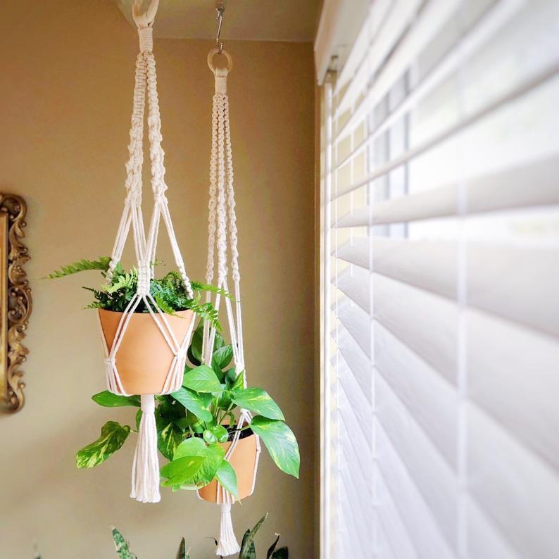 Kết quả hình ảnh cho macrame hanging herb garden